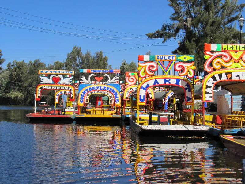 Chinampas y canales de Xochimilco, ciudad de México, DF
