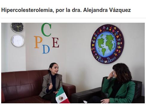 FEMEXER, dra Alejandra Vázquez, psi Martha Lellenquien, hipercolesterolemia familiar