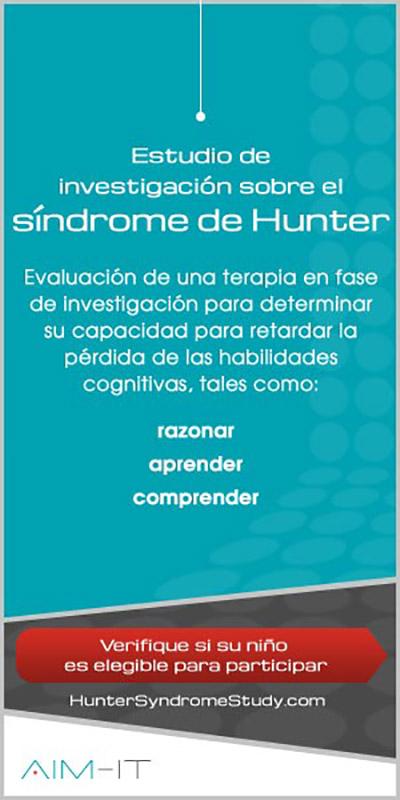 Estudio de investigación para el tratamiento del deterioro cognitivo de los enfemos con síndrome de Hunter (MPS tipo II, mucopolisacaridosis tipo 2)