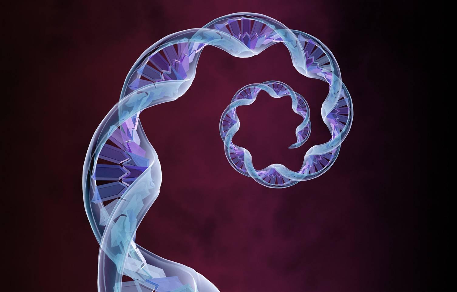 ADN en espiral, enfermedad