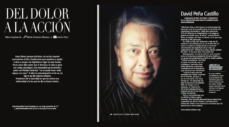Revista Líderes entrevistó a David Peña Castillo