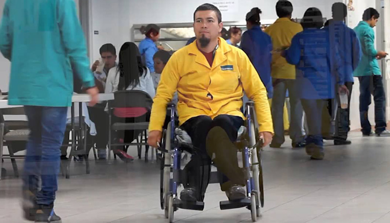 Empresas deben ser más incluyentes con personas con alguna discapacidad.