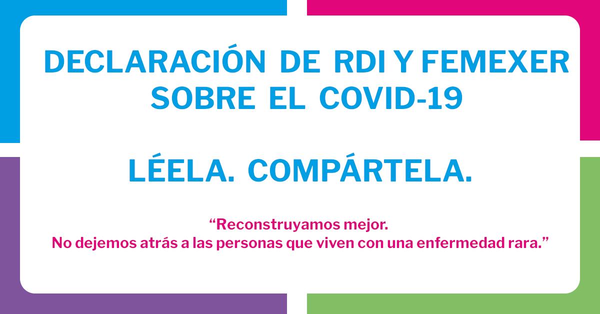 Declaración de RDI: «No dejemos atrás a nadie con una enfermedad rara durante la pandemia del COVID-19.»