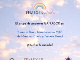 Love In Blue - Disautonomía Mx es el grupo de pacientes ganador del concurso inserto en el taller «Caminando hacia la CUS EERR»