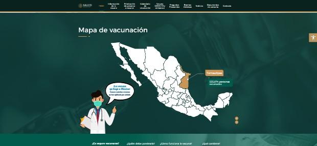 Nuevo sitio vacunacovid.gob.mx contiene datos en tiempo real sobre el avance de la inmunización en México